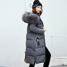 Women Winter Parka Super Long Knee Length Hooded Coat Down Cotton Puffer Jackets