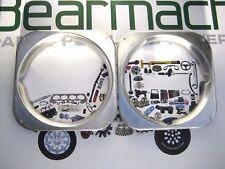 Land Rover Series 3, Headlamp Light Surrounds Set, Aluminium, BR1878R