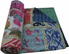 Indian Handmade Patchwork Twin Cotton Kantha Quilt Handmade Cotton Twin Quilt