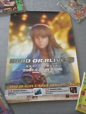 >> DEAD OR ALIVE 3 III XBOX B2 SIZE OFFICIAL JAPAN TECMO GENUINE POSTER! <<