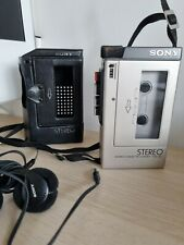 More details for sony tcs 350  stereo cassette retro tape recorder (with case and headphones)