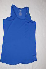 Womens Tank Top ROYAL BLUE RACERBACK Semi-Fitted FITNESS WORKOUT Dri-More XS 0-2
