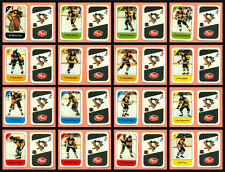 1982-83 Post Cereal Pittsburgh Penguins Kehoe NHL Hockey Mini Card Set of 16