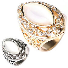 Gi- Ft- Fashion Women's Royal Style Hollow Opal Party Ring Luxury Jewelry Gift C