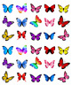 Mixed Butterflies 30 Cupcake Toppers Edible Wafer Paper Fairy Cake Toppers
