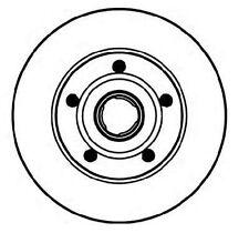 2 Brake Discs Rear OPEL ASTRA G, H, Coupe,Caravan,Saloon,Cabriolet
