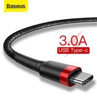 Baseus USB Typ C Kabel USB-C Schnell Ladekabel für Samsung Galaxy S20 S9 A50 A70