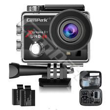 """Campark ACT74 Action Camera 4K WiFi Sport Cam Underwater 30M 2.0"""" LCD Screen AU"""