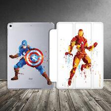 Case For iPad Air Mini Pro 12.9 11 10.5 9.7 10.2 Marvel Captain America Iron Man