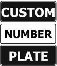 Custom Design Your Own Motorbike Novelty Number Plate