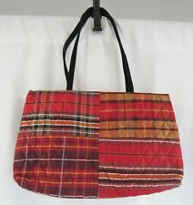 Vera Bradley 'Red Plaid' Silk Collection Shoulder Bag Retired