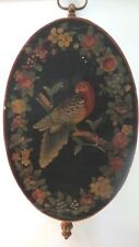 Vintage  Painting Bird Picture  Wood Wall Hanger