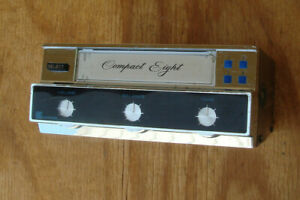 Vintage Stereo Eight 8-Track Player Accessory Under Dash Model with Harness End