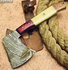 LOUIS MARTIN RARE CUSTOM HANDMADE DAMASCUS ART HUNTING CLEAVER CHOPPER AXE KNIFE