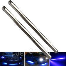 2x Ultra Slim COB LED DRL Daytime Running Light Strip Car Fog Driving Lamp Blue