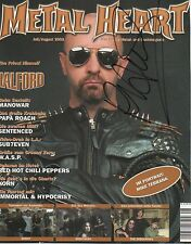 """Rob Halford """"Judas Priest"""" autógrafo signed a4 revista-Cover"""