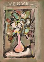 Georges ROUAULT 1st Run Original Lithograph Cover Print from Verve 1939 Teriade