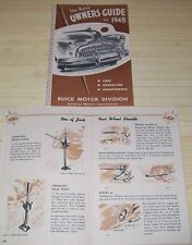 1948 BUICK NEW OWNERS MANUAL Full Color Interior