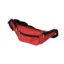 2 X Red Fanny Pack Bum Bag Festival Waist Pouch Travel Sport Holiday Money Belt