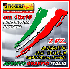 Adesivi TRICOLORE cm 10 X 10 adesivo graffio italia bandiera italiana striscia