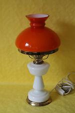 Tischlampe im Stil einer Petroleumlampe Glas Weiss LRK1