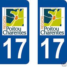 sticker autocollant plaque immatriculation auto Département Charente Maritime 17