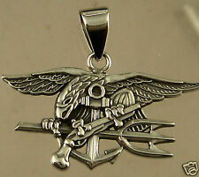US Navy UDT Seal Pendant Hand Made Ring . 925 Sterling