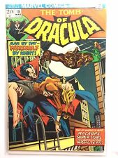 TOMB of DRACULA #18 VF 8.0 Werewolf by Night crossover MARVEL Bronze 1970s Colan