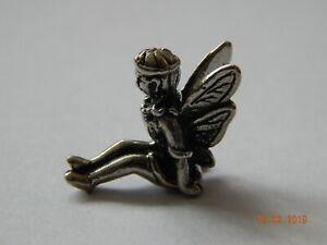 Tiny fairy! Miniature lucky fairies! White metal charm dolls house garden mini