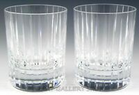"""Baccarat France HARMONIE 4-1/8"""" DOUBLE OLD FASHIONED GLASSES Set of 2 Mint"""