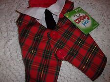 Plaid PARTY Vest Holiday Christmas Dog New XXS XS L cat pet petco tux formal