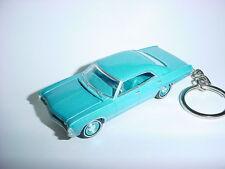 NEW 3D BLUE 1967 CHEVROLET IMPALA CUSTOM KEYCHAIN keyring key sport sedan 67'