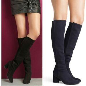 STUART WEITZMAN boots ELOISE 75 knee high BLACK suede leather sz 10 $765