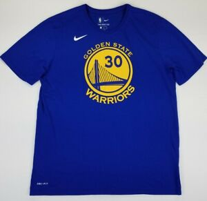 The Nike Tee Dri Fit NBA Golden State Warriors Steph Curry #30 Tee XL Blue B33