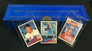 1985 TOPPS TIFFANY BASEBALL CARDS COMP SET W/ McGWIRE, CLEMENS & PUCKETT ROOKIE
