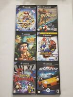 Nintendo Gamecube Games In EXCELLENT CONDITION & WITH CASES LOT OF 6