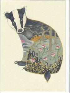 Badger Greetings Card - Daniel Mackie Collection birthday blank inside