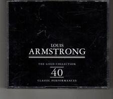 (HP327) Louis Armstrong, The Gold Collection - 1995 double CD