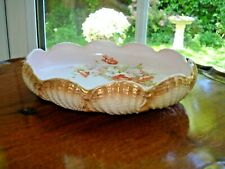 Victorian Grimwade Pottery - Oval Shell Dish Floral Decoration 1890 - 1901 Rare?