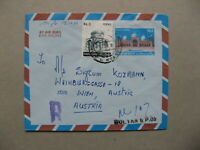 PAKISTAN, uprated R-cover to Austria 1984, Mosque stamp mausoleum