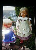 Puppenmode v. Marken Orchidee-Puppen, nur Kleid+Schürze 50cm ohne Puppen