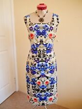 NEXT Silver Black Royal Blue DRESS Size UK 18 16 Floral Purple Red Dinner Party
