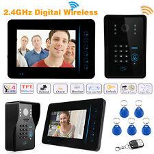 """7"""" 2.4G Wireless Video Door Phone Bell Camera Doorbell Home Security Intercom"""