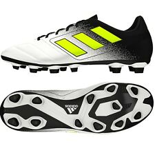 Adidas Men's ACE 17.4 FxG Soccer White/Yellow S77090 Sz 8 - 11