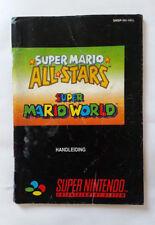 Notice Super Mario All Stars Super Mario World Super Nintendo