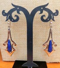 Jay King Contemporary Lapis Sterling Silver Drop Earrings NWT