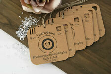 Instagram Wedding Tags Personalised tags rustic Vintage Table decor set x6