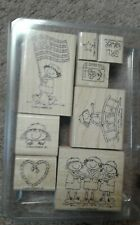 Stampin Up girl power Girl Scouts Cookies Stamp Rubber Rare Htf Brownies Vintage
