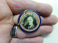 "Reproduction Roosevelt Political Campaign 1.38""  Pin-Back Button Vintage"