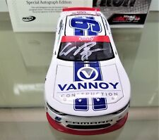 IN NOW! WILLIAM BYRON AUTOGRAPHED 2017 #9 VANNOY CONSTRUCTION 1:24  2018